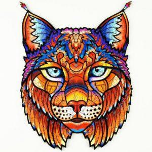 Lesena sestavljanka Graceful Lynx glavna slika