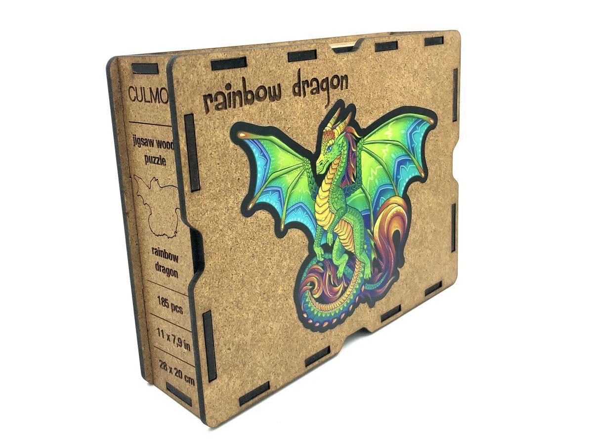 Lesena sestavljanka Rainbow Dragon Glavna Slika 1