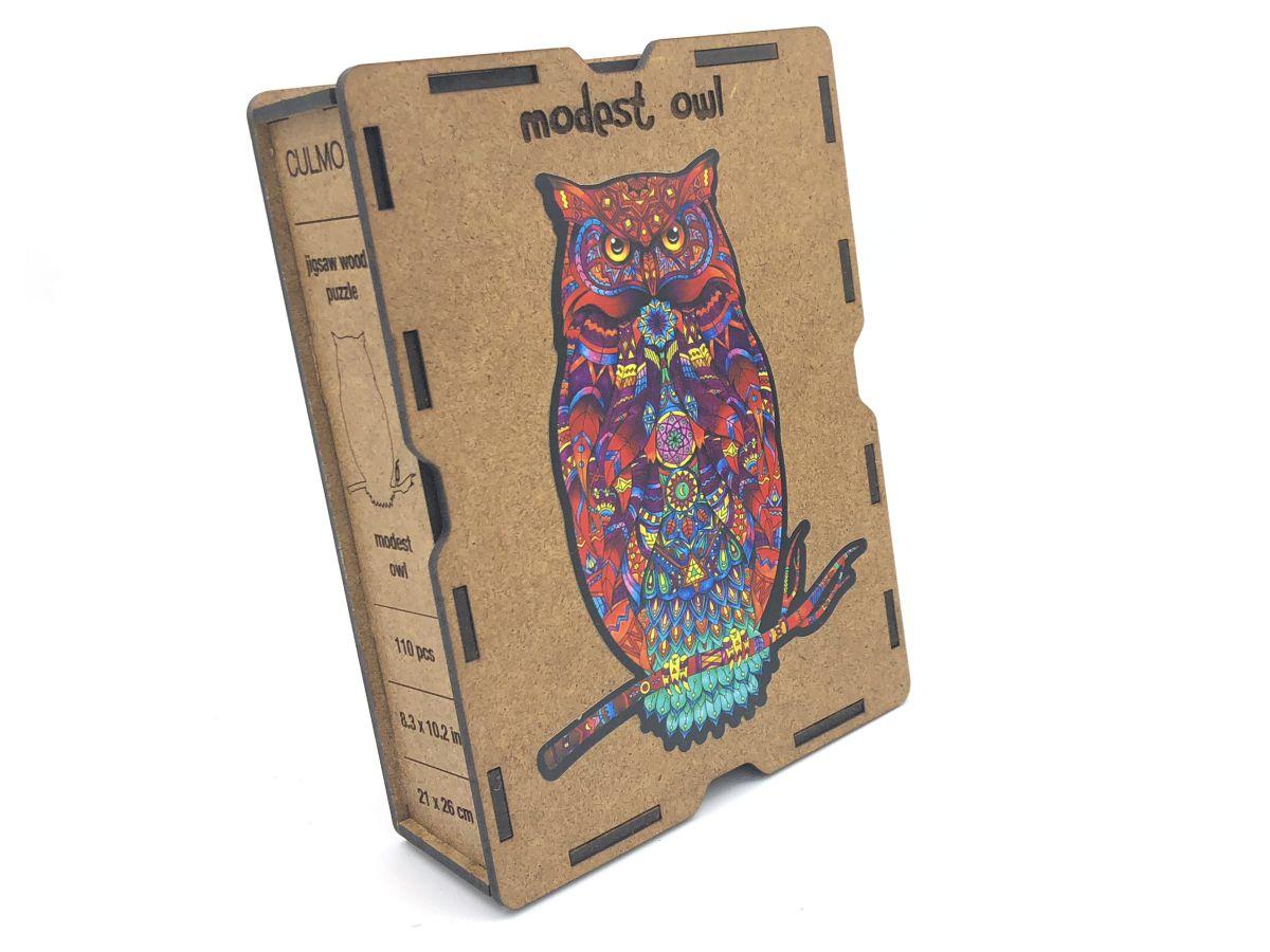 Lesena sestavljanka Modest Owl Glavna Slika 1