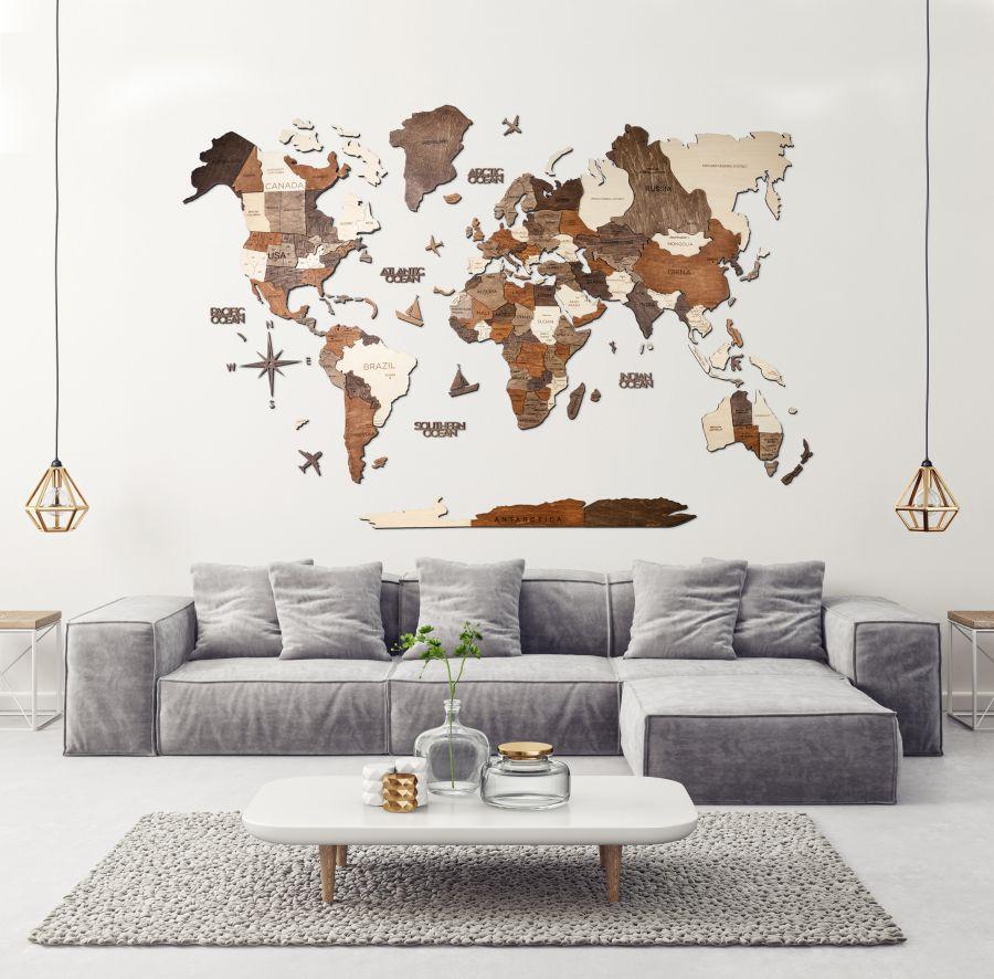 Lesen zemljevid sveta 3D_Multicolour16