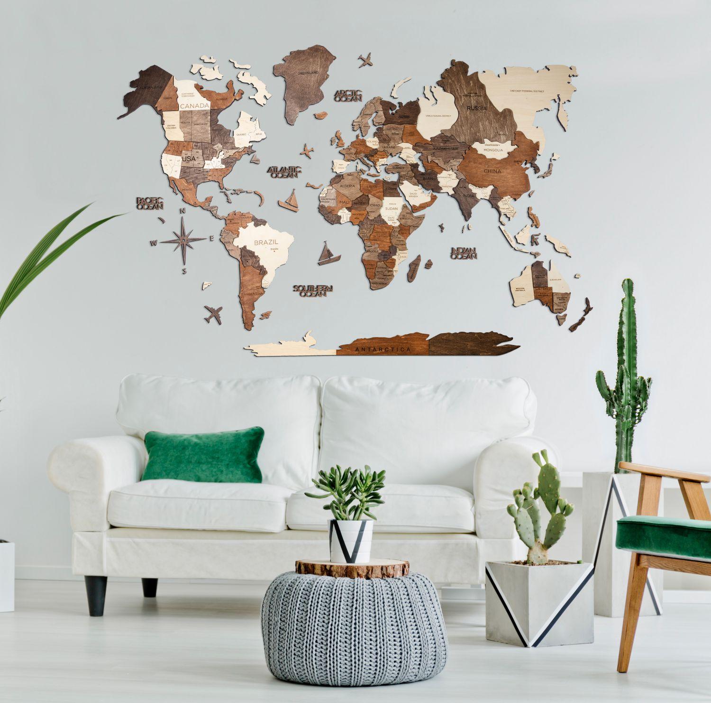 Lesen zemljevid sveta 3D_Multicolour18