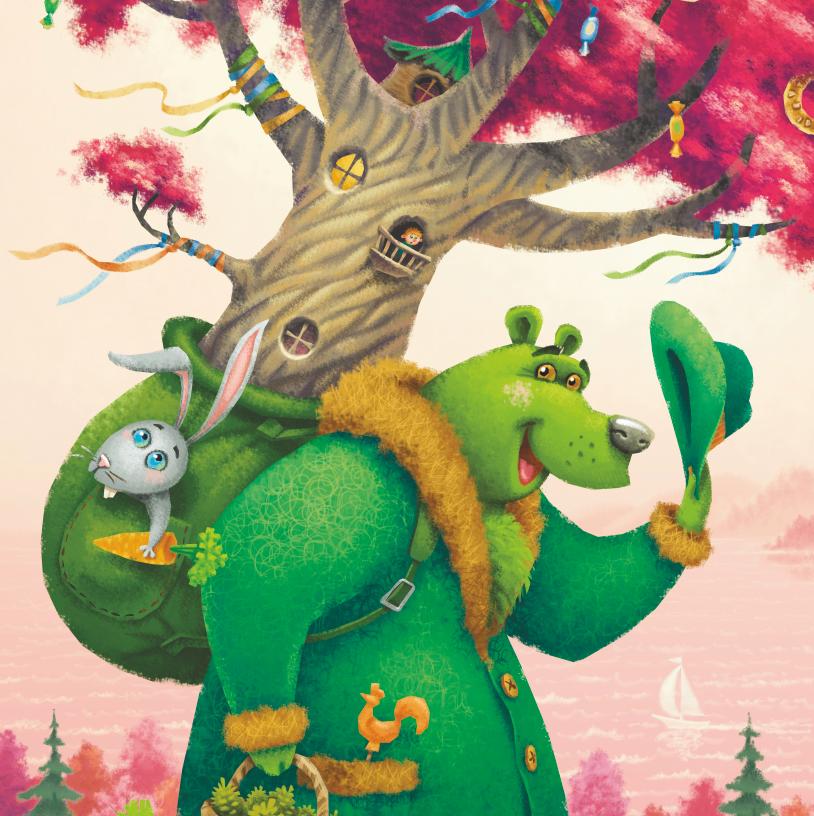 Lesena sestavljanka The green bear