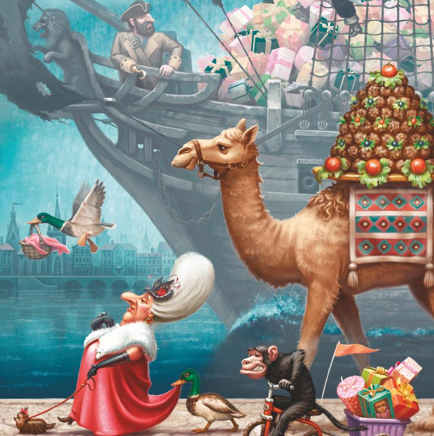 Lesena sestavljanka Treasure ship