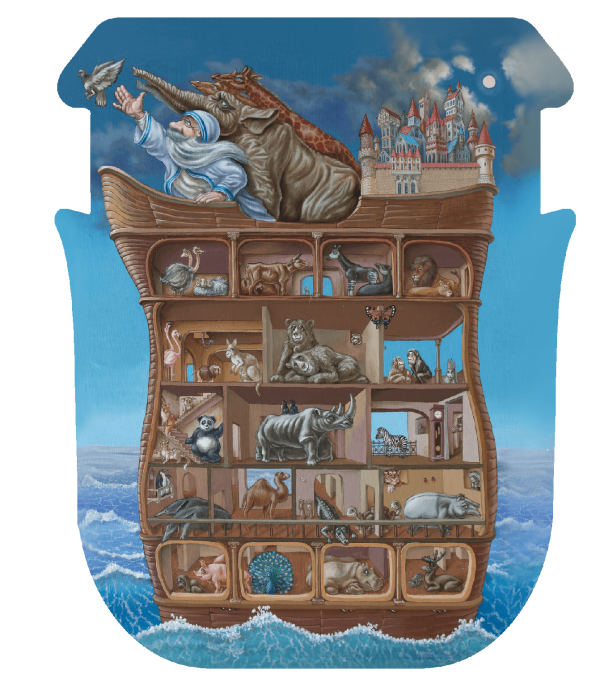 Lesena sestavljanka Noah's ark