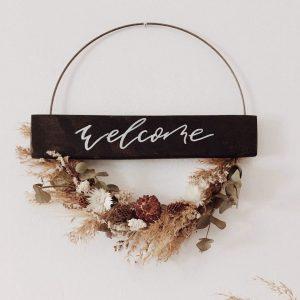 Okrasni venec Welcome
